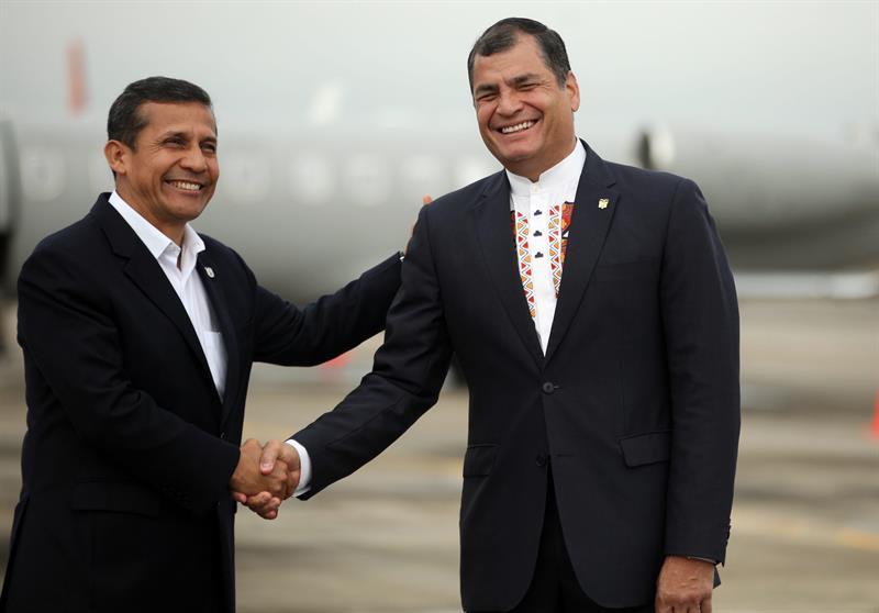 Presidentes Correa y Humala trabajarán juntos para construir la paz