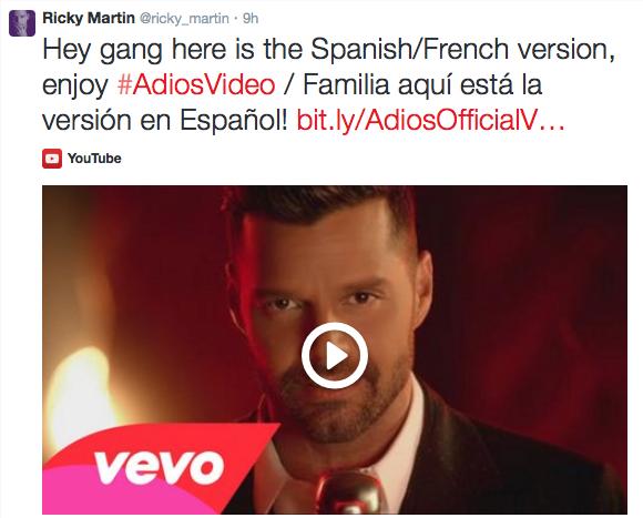 Nuevo video de Ricky Martin