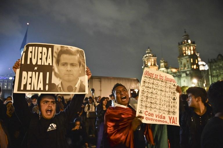 Peña Nieto obligado a dar golpe de timón tras dos meses de crisis por desaparecidos