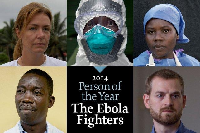Médicos y enfermeros que combaten ébola, el personaje del 2014 para revista Time