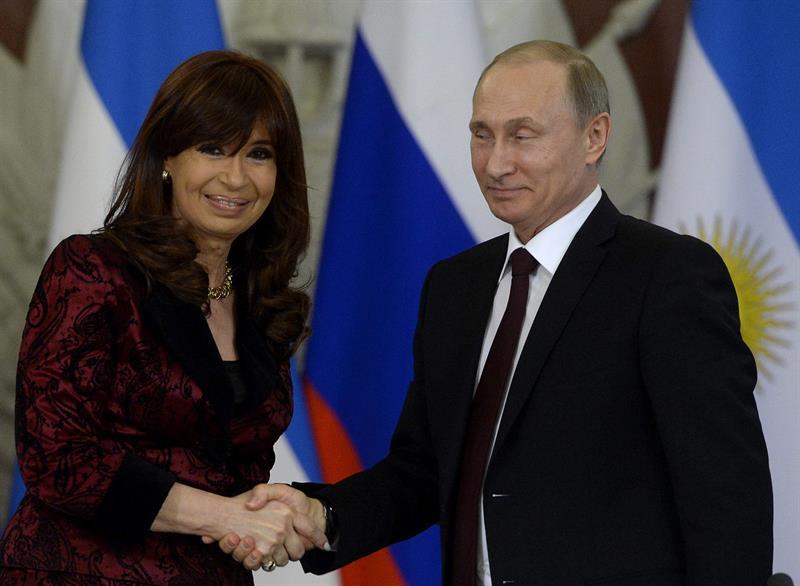 Putin recibe a Cristina Fernández en Moscú