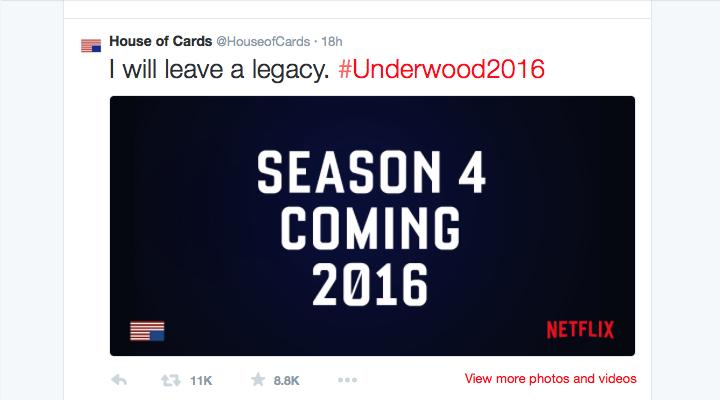 "Netflix anuncia la cuarta temporada de ""House of Cards"""