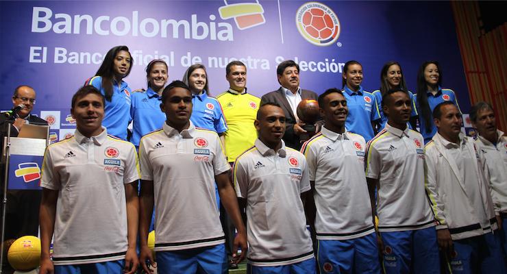 Bancolombia, el banco oficial de las  Selecciones Colombia de fútbol