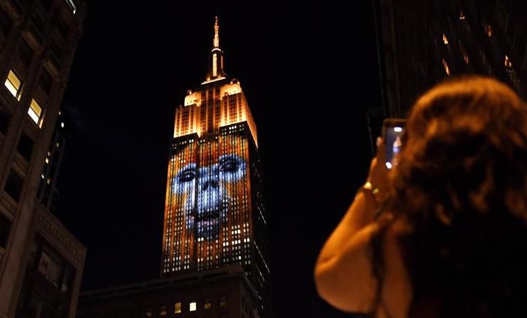 El Empire State de Nueva York, iluminado con animales en peligro de extinción