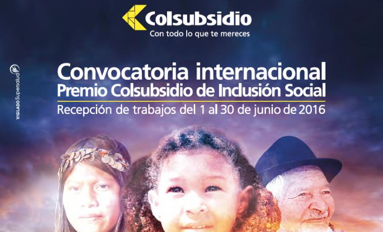Se abre convocatoria para el Premio Colsubsidio de Inclusión Social