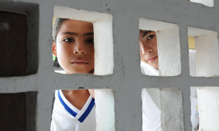 Los niños de Colombia quieren conocer la paz
