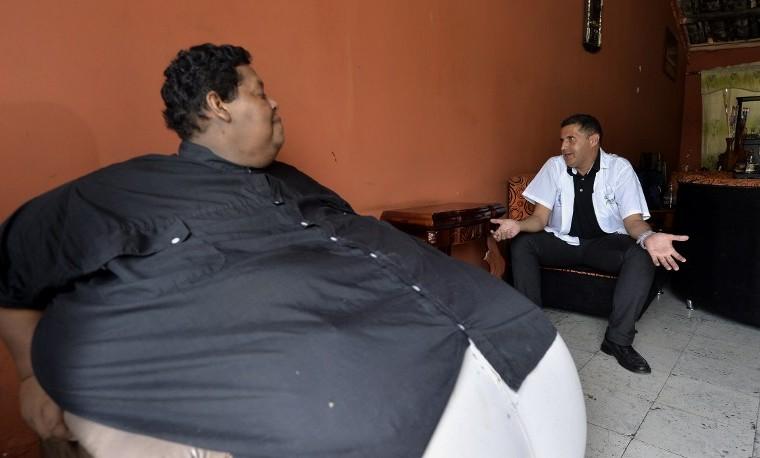 Vivir con 400 kilos, el desafío del colombiano más obeso