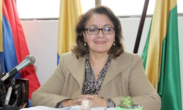 Lucía del Socorro Basante en su oficina en Pasto, Nariño. Foto cortesía de la Sra. Socorro Basante. ONU Mujeres