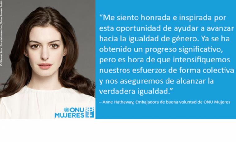 Anne Hathaway, Embajadora de buena voluntad de ONU Mujeres