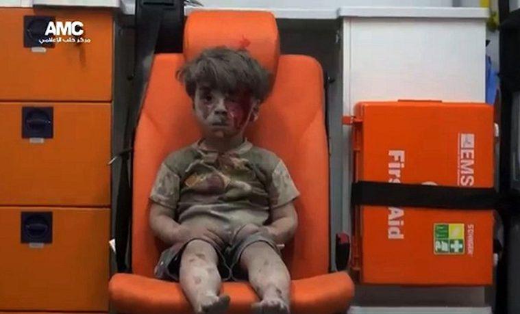 Los niños, símbolo de las víctimas de la guerra en Siria