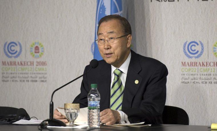 """Ban Ki-moon espera que Trump """"comprenda la urgencia"""" del cambio climático"""