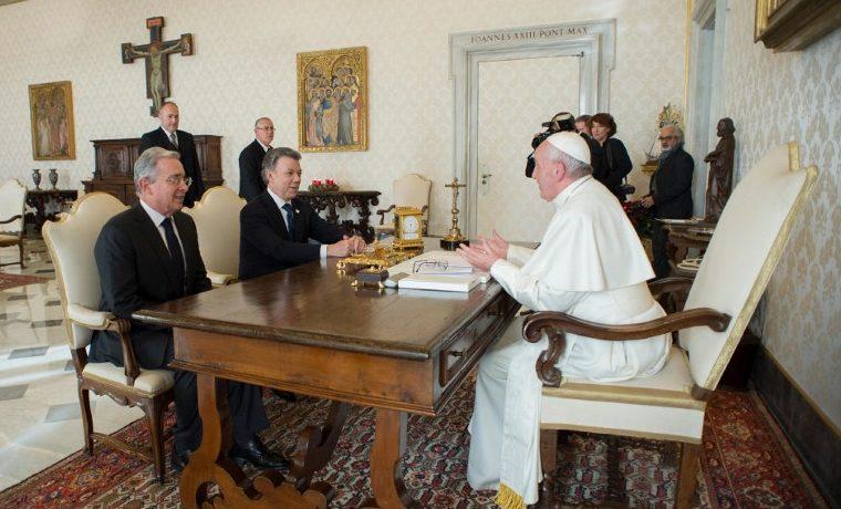 Santos Uribe Francisco Papa paz Colombia