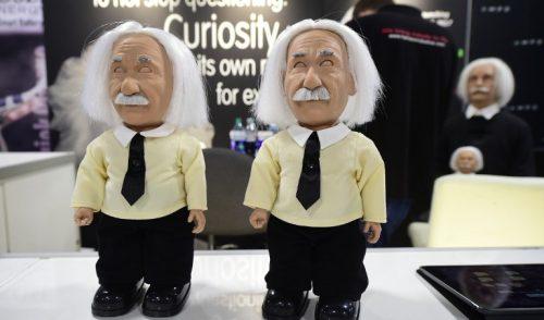 Einstein y robots con personalidad en Las Vegas