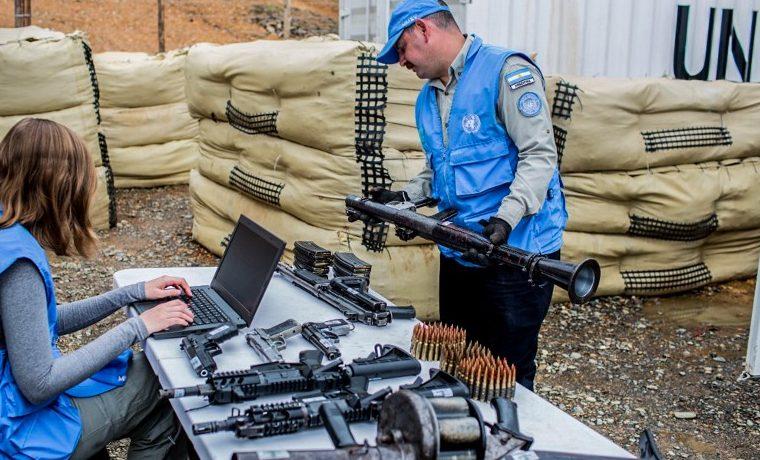 armas FARC ONU guerrilla Colombia