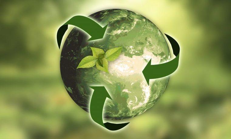 crecimiento verde planeta medio ambiente reciclaje