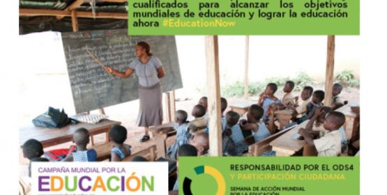 ¡Exigimos que los Estados cumplan sus compromisos con la educación!