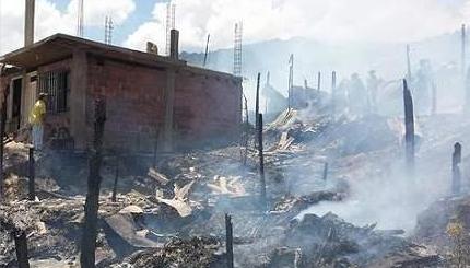 27 familias se quedaron sin vivienda