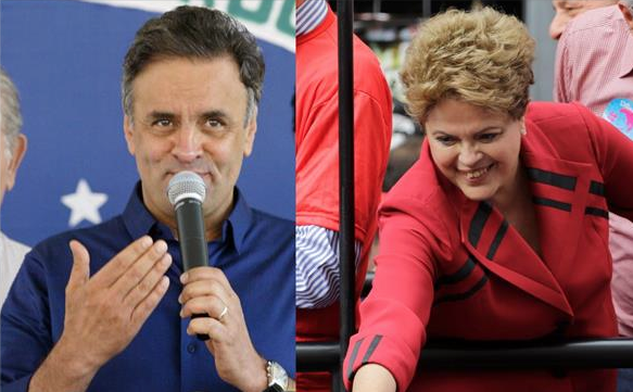 Neves y Rousseff a segunda vuelta
