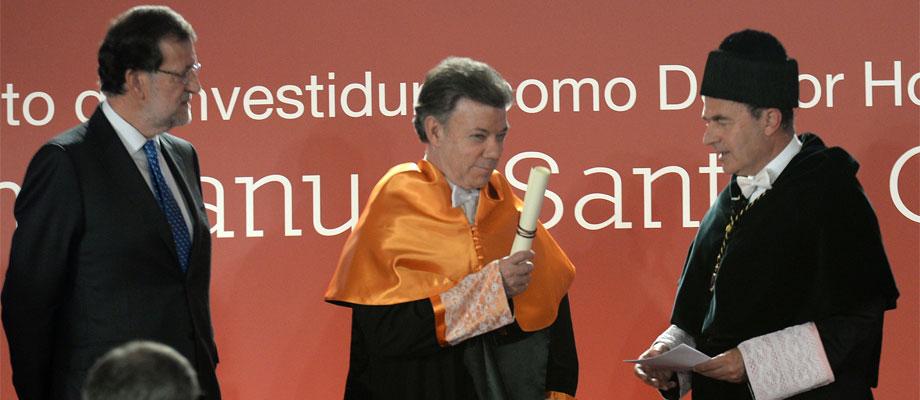 Presidente Santos recibe Doctorado Honoris Causa dela Universidad Camilo José Cela.