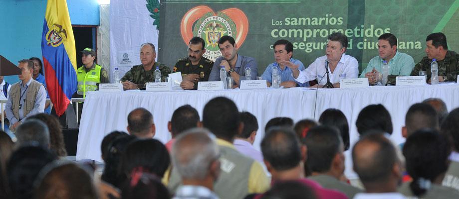 """""""Seguiremos redoblando esfuerzos para tener más inversión social en Santa Marta y Magdalena"""": Presidente Santos"""