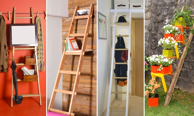 Ideas para decorar con escaleras