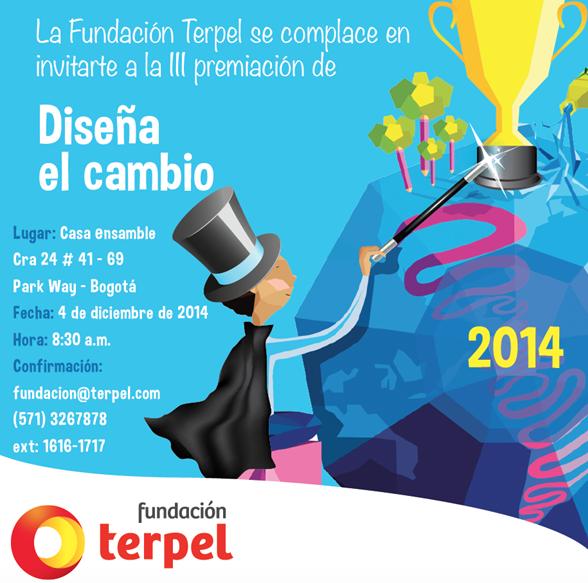 III Premiación Diseña el Cambio 2014 – Fundación Terpel