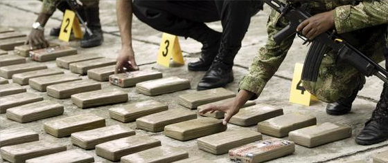 Armada incauta en el norte del Chocó más de 600 kilos de cocaína, presuntamente de las FARC