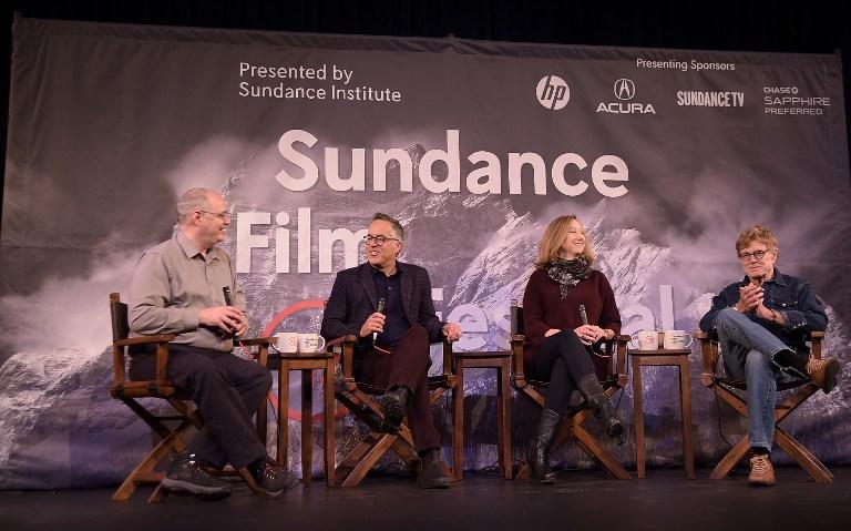 Sean P. Means, Director del Festival de Cine Sundance,  John Cooper, Director Ejecutivo del Instituto Sundance Institute, Keri Putnam, y el Presidente del Sundance Institute,  Robert Redford.