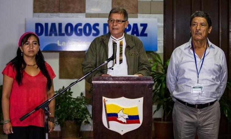 Rotación de integrantes de la delegación de las Farc en Cuba