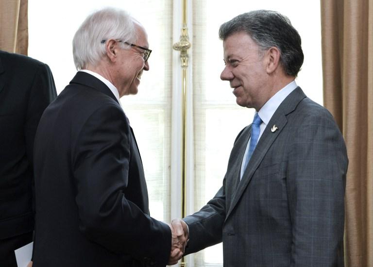 Presidente Santos se reúne con enviado de Estados Unidos a diálogos con FARC