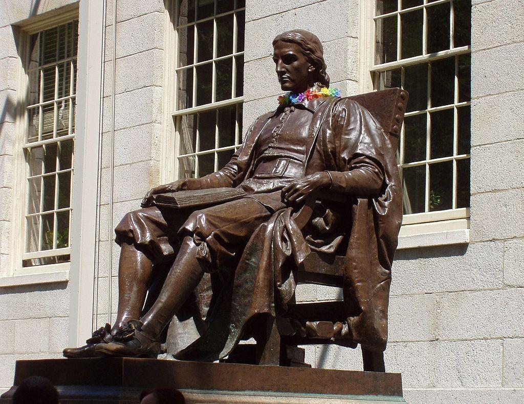 """John Harvard statue at Harvard University"" by Jessica Williams."