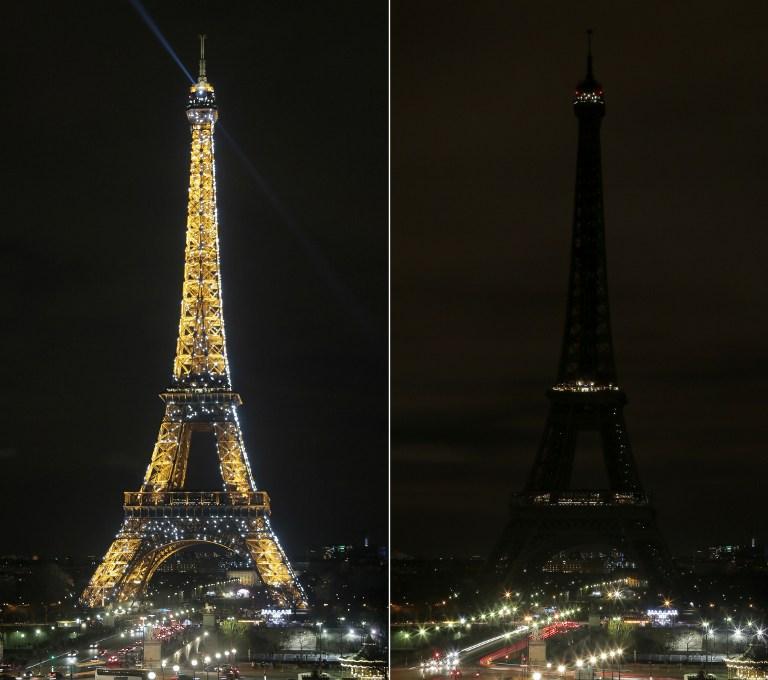 """La Torre Eiffel se apaga para celebrar """"La Hora del Planeta"""""""