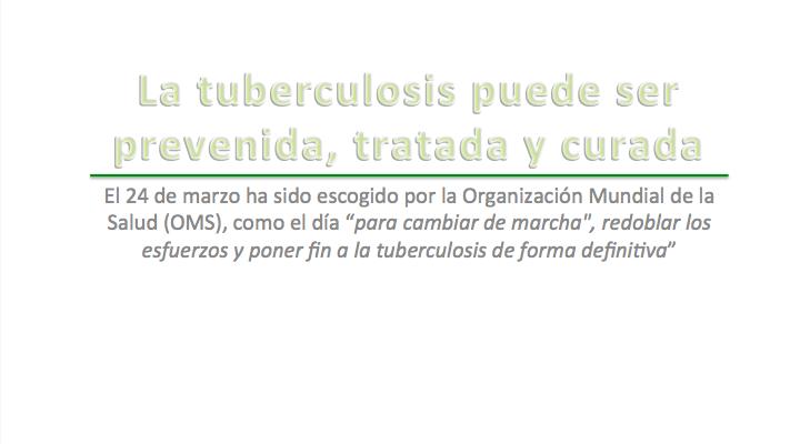 La tuberculosis puede ser prevenida, tratada y curada !!