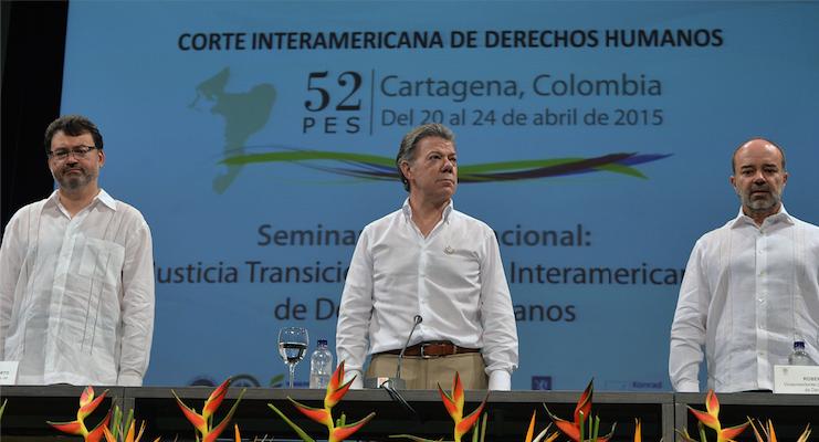 No puede haber paz con impunidad: Presidente Santos
