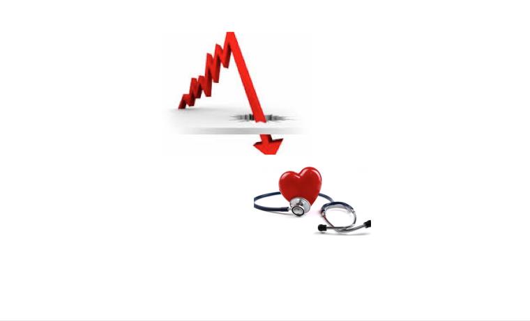 La caída de la economía y el descenso en la salud