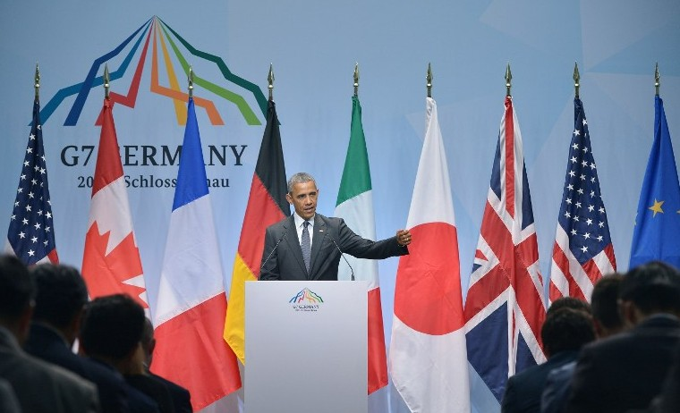 """Obama pide a Grecia """"duras decisiones"""" en reunión del G7"""