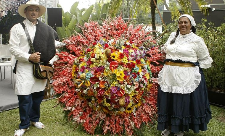 Los silleteros, un patrimonio artístico colombiano hecho con flores