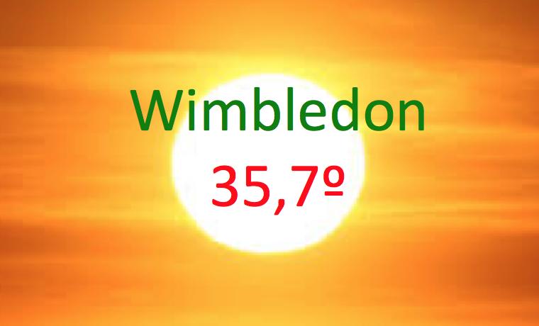 El día más caluroso de la historia de Wimbledon