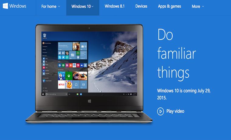 Microsoft planea lanzar Windows 10 este mes