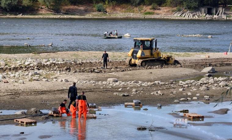 La sequía desvela un tesoro arqueológico del río Vístula en Polonia
