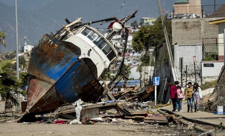 """""""Noche de pesadilla"""" por terremoto y tsunami en Chile"""