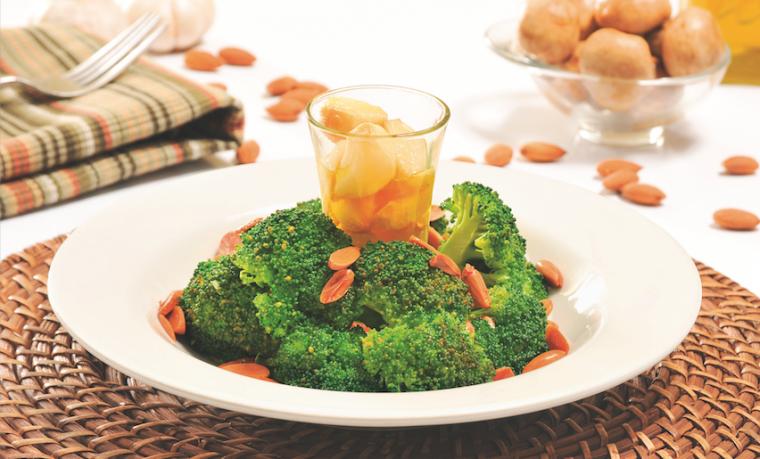 Qué-Como: Ensalada de flores de brócoli con almendras