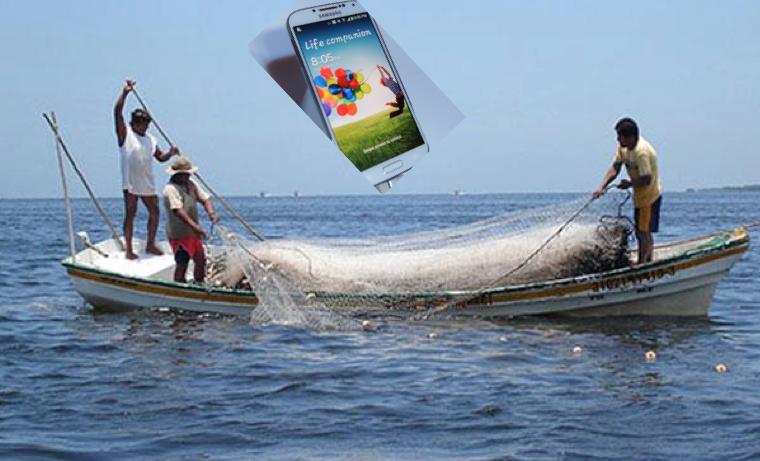 Pescando con redes móviles