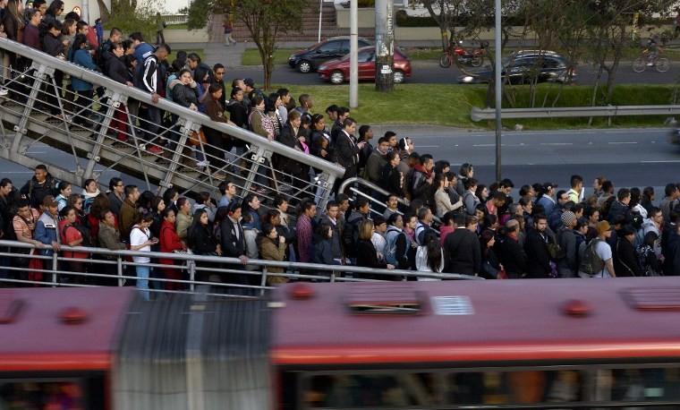 El caos del transporte en Bogotá, clave para las elecciones
