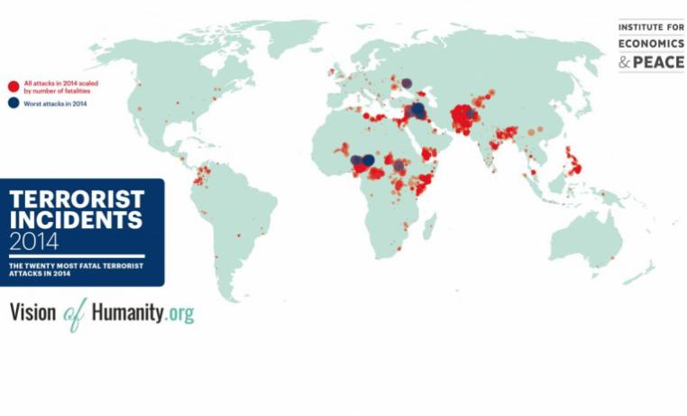 """Aumento """"sin precedentes"""" del número de muertos en atentados"""
