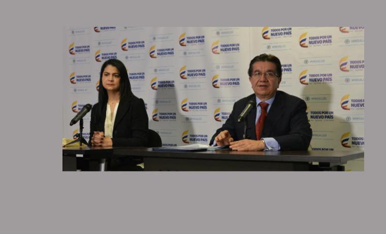 Directora (e) del Instituto Nacional de Salud, Martha Ospina y Viceministro de Salud Fernando Ruíz Gómez. Foto: Ministerio de Salud