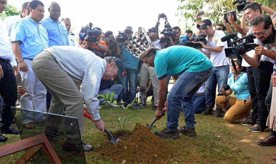 Bosque de la paz Juan Manuel Santos