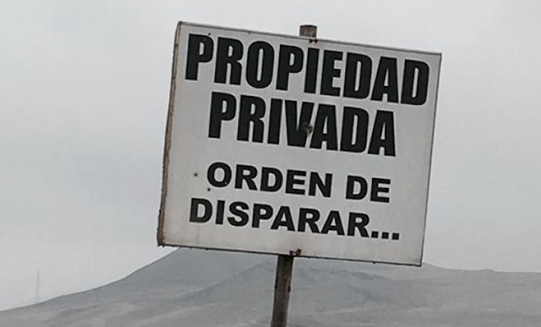Un cartel normal