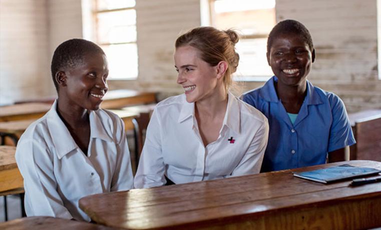 Emma Watson, embajadora de buena voluntad de ONU Mujeres, hace hincapié en la necesidad de poner fin al matrimonio infantil