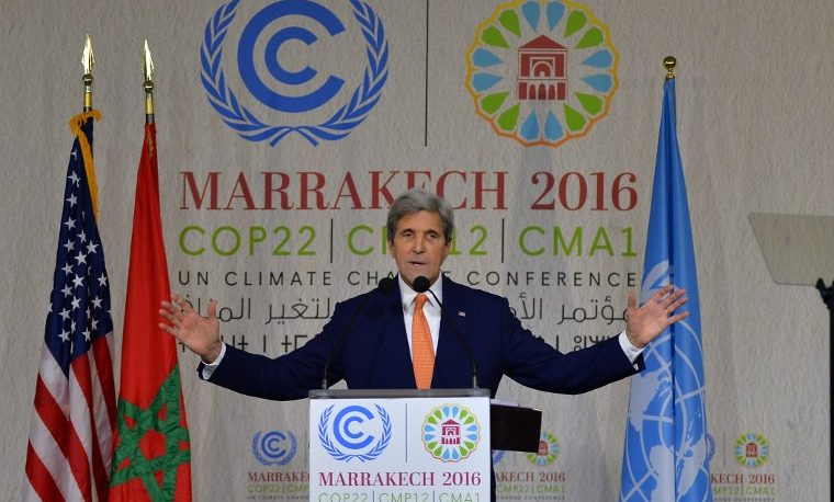 Kerry: EEUU cumple con objetivos climáticos y eso no puede cambiar